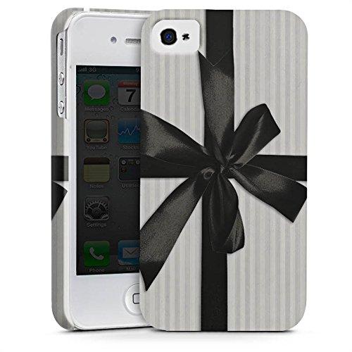 Apple iPhone X Silikon Hülle Case Schutzhülle Geschenk Schleife Grau Premium Case glänzend
