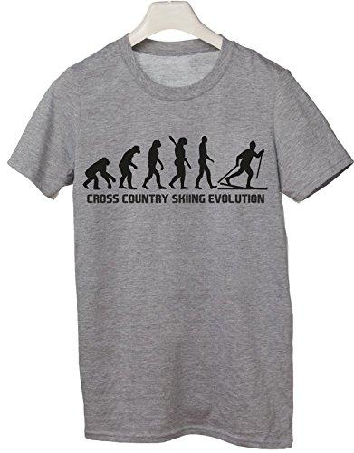 Tshirt Cross Country Skiing Evolution - evolution - sci di fondo - sport - humor - in cotone Grigio