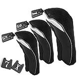 duolaam 3PCS Golfschläger Driver Head Cover Set Golf Zubehör (schwarz)