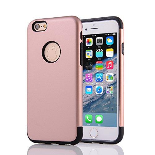 "MOONCASE iPhone 6S Plus Coque, Combo Hybride Dual Layer TPU +PC Etui Antichoc Robuste Housse Protection Armure Case pour iPhone 6 Plus / 6s Plus 5.5"" Argent Rose Or"