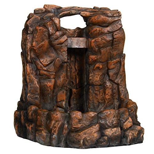 Zoomed RR-25E ReptiRapids Wasserfall Stein, L, Terrarien Dekoration mit LED, Trinkquelle für Reptilien