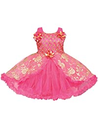 Wish Karo Girls Frock Dress - Net - (fe1223t)