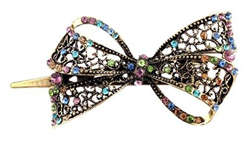 Skyllc Belle bijoux Clips Cristal bowknot cheveux Outils Hairpins Beauté