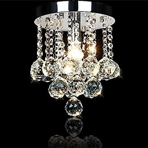 PJSKJZQ 200mm cristal de la manera de la lámpara de techo de lujo pendiente de la lámpara de luz , 220-240V-Light Brown
