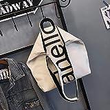 YDGHD 2018 Nuovo Casual Canvas Borsa A Tracolla Versione Coreana Colore Lady Crossbody Bag Moda Stampa Alfabeto Borsa Bianco