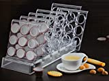 Kaffe Kapselständer Kapselhalter klein/groß 36er/54er transparent (für 54 kleine Kapseln (ca.30mm))