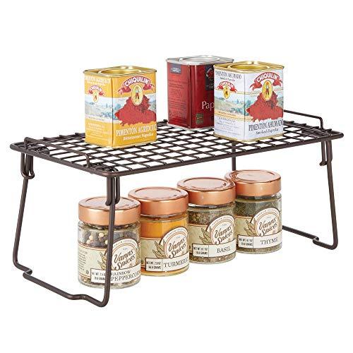 MDesign Estante apilable para almacenaje de cocina - Repisa metálica de cocina con patas plegables...