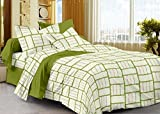 #2: Story@Home 208 TC 100% Cotton Green 1 Single Bedsheet with 1 Pillow Cover