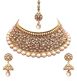 YouBella Gold Plated Necklace & Earrings Set For Women