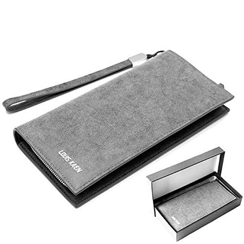 Damen Geldbörse, Portemonnaie , Brieftasche mit Halteschlaufe(10,5/20/2) Mod. 5014 by Fashion-Formel (Halteschlaufe)