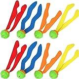com-four® 8X Diving Ball, Set da Gioco di Palline di Diversi Colori - Kit di Immersione per i Bambini Che imparano a immergersi (08 Pezzi - Palla da Sub)
