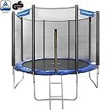 Songmics 244 305 366 cm Trampoline de Jardin Avec Filet Echelle Coussin de Protection (Dimensions à choisir) (305cm)