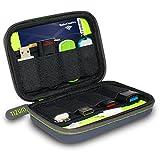 #10: Tizum 8 x USB Flash Drives Carrying Case, Premium Quality, Hard EVA for Flash/key Drives (Gray)