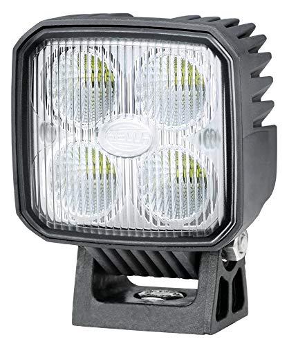 Hella LED Arbeitsscheinwerfer, Q90 LED, Nahfeldausleuchtung, 4 Power LEDs, 1.200 Lumen, stehender/hängender Anbau, Streuscheibe, schwarzes Kunstoffgehäuse, 12V/24V, 1GA 996 283-001
