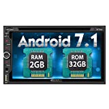 """Pumpkin Android 7.1 Double Din Car Stereo with CD DVD Player Sat Nav Bluetooth Support GPS DAB+WiFi Android Auto AUX USB SD 6.95"""" Touch Screen"""