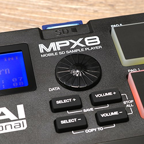 Akai Professional MPX8 SD Sample Pad Controller with Sound Library ...