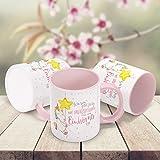 Kaffee-Tasse Einhorn Ich bin jetzt fertig mit erwachsen werden lass und Einhörner sein mit Innenfarbe MoonWorks® rosa unisize -