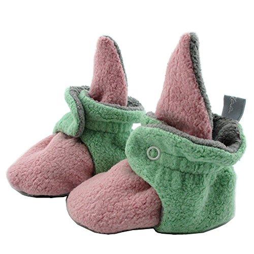 SmukkeDesign Baby Bootie Babyschuh Krabbelschuh Lauflernschuh Babybooties für Mädchen und Jungen ? SmukkeDesign NEU rosa mint (6M)