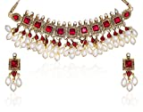 Best Choker Necklace Prime - Zaveri Pearls Kundan Pearl Drop Choker Necklace Set Review