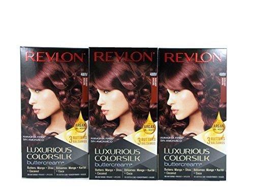 Revlon Luxuriöser Colorsilk Buttercream Haar Farbe 48bv Burgund (Pack von 3)