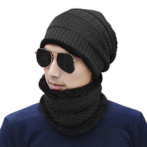 FakeFace Winddicht Gesichtsmaske Sturmhaube Maske mit Flecefutter Winter Hüte Kappe Mütze Warme Strick Balaclava Beanie Hut für Outdoor Sport Radfahren grau