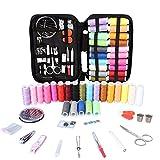 Vegkey Kit da cucito da viaggio, 91 pezzi, accessori per cucito con forbici, ditale, fili, aghi, metro a nastro, custodia da trasporto per casa, viaggio e uso d'emergenza
