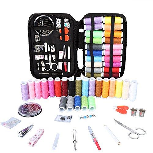Kit de Costura, Vegbirt Coser Accesorios 91 piezas Accesorios de costura con funda para el viajes y hogar y emergencias