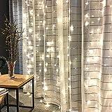 BLOOMWIN Lichterketten Lichtervorhang 8Modi+Timer Funktion mit Fernbedienung 6 * 3M Deko Beleuchtung 6V Niederspannung IP67 Wasserdicht 600LEDs Licht Girlanden mit Haken Vorhang Fenster String Weiß