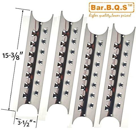 bar. b.q.s h95181Lot de 4en acier inoxydable La Chaleur Plaque de rechange pour Brinkmann Pro Series 8410, charmglow 810–8410-f, Kenmore, 148.1637110et Master Forge e3518-lp, L3218,