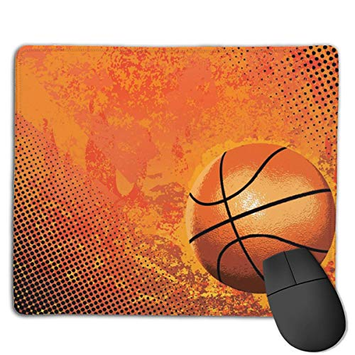 ASKSSD Mouse Pad Cool Basketball Funny Pattern Rectangle Rubber Mousepad 8.66 X 7.09 Inch Gaming Mouse Pad with Black Lock Edge (Bulk Basketbälle In Billig)