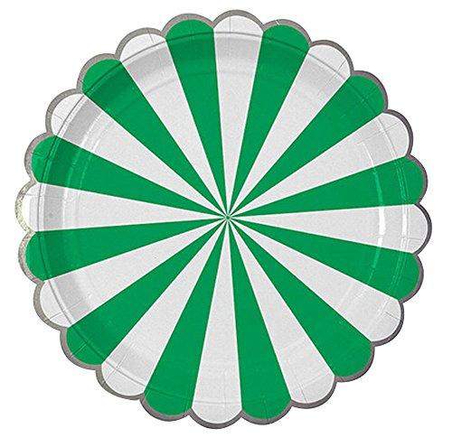 Preisvergleich Produktbild Party-Verpackungen Party-Platten Einweg-Papier-Platten für Party [Grün]