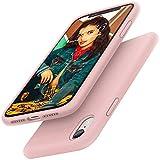 Gorain Hülle für iPhone XR, Flüssig Silikon Kratzfeste Handyhülle rutschfeste Schutzhülle Cover Stoßfestes Bumper Case Silikon Hülle für iPhone XR 6.1 Zoll - Rosa Sand