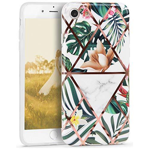 Oihxse Nuevo Flores Case Compatible con iPhone 11 Pro Funda Marmol Silicona Gel Enchapado TPU Anti-Rasguño...
