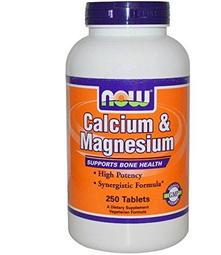 Now Foods I Calcium und Magnesium I Verhältnis 2 zu 1 I Hoch potenziert I 250 Tabletten I Vegetarisch I Vegan - Calcium-magnesium-formel