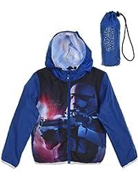 Veste à capuche imperméable avec sacoche enfant Star Wars Bleu de 4 à 10ans