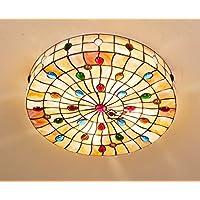 Tiffany Pteris Shell Soffitto Illuminazione A Led Da Letto Soffitto Del Salotto Accogliente Hotel Rooms And Lights Villas