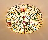 Tiffany Pteris Shell Decke LED-Beleuchtung Schlafzimmer Decke Wohnzimmer Cozy Hotel Zimmer und Villen Lichter