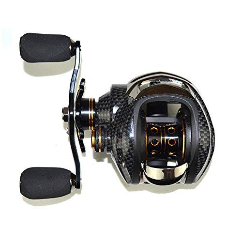 Lixada 17 + 1 Rodamientos de Bolas Fishing Carrete 7.0:1 Carretes de Fundición de Cebo Izquierda/Derecha