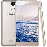 Blackview P2 - 4G LTE Smartphone 4GB RAM + 64GB ROM, MT6750T Octa-core Dual SIM, 5.5 Zoll 1080*1920 pixels IPS FHD Android 6.0 Handy ohne Vertrag, 13MP+8MP Dual Kamera, mit 6000mAh Batterie, Fingerprint FM GPS OTG - (Gold)