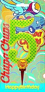 Cereria de Giorgio ch00002_ 65vela Cumpleaños gigante Chupa Chups Número 5con soporte