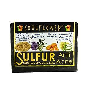 Soulflower Anti Acne Sulfur Soap, 150g
