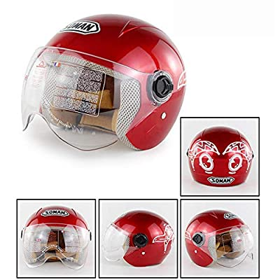 Boys/Girls Safety Bike Helmet Cartoon Road Shape for Cycling Skating Scooter Outdoor Sports Age Guide 6-12 years Kids/Children(Red) from HHCC