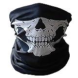 Moto Casco Mascaras Schädel tubuläre schützende Staub Mund Maske Bandana Motorrad Polyester Schal Face Neck Warmer Helm Hälfte Dot