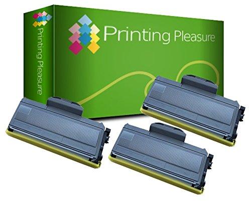 Printing Pleasure TN2110 TN2120 Kit 3 Toner Compatibili per Brother DCP-7030 DCP-7040 DCP-7045N HL-2140 HL-2150 HL-2150N HL-2170 HL-2170W MFC-7320 MFC-7340 MFC-7440N MFC-7840W, Nero, 3 Pezzi