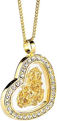 """St. Leonhard 23 Karat Gold: Halskette\""""Herz\"""" mit 23 Karat Blattgold (Geschenk Schmuck-Kette)"""