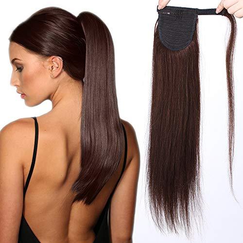 Sego extension coda di cavallo capelli veri clip 100% remy human hair lunghi lisci umani 20