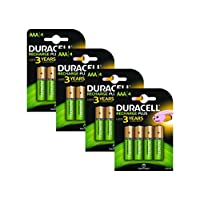 Duracell AAA 750mAh Rechargeable Batteries - Pack of 8