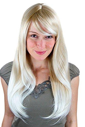 Sexy Perücke, blond, glatt, Seitenscheitel 3115-24BT613
