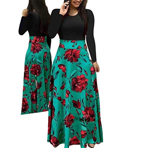 Yujian12 le donne dell'annata vestono le donne calde di vendita vestito floreale vestiti da sera di sera manica lunga fiore d'autunno stampa patchwork abiti da donna dalle donne come mostra la foto