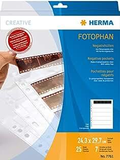 """Hama 4/""""X 5/"""" 9x12cm Translúcido Hojas de presentación de Cristal negativo Paquete de 25"""